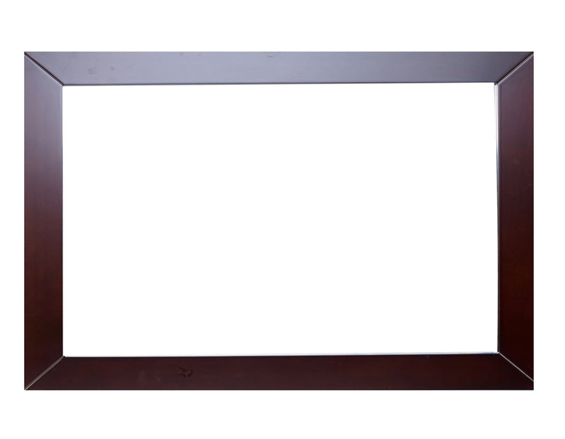 Eviva New York Bathroom Vanity Mirror Full Frame Teak(Dark Brown) 48X31 Wall Mount