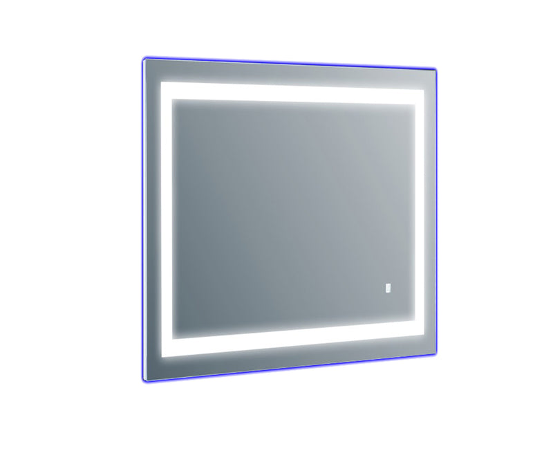 Eviva EVMR52-20X28-LED Deco Piece Wall Mounted Lighted Bathroom Vanity, Backlit LED Mirror with Frame Lights