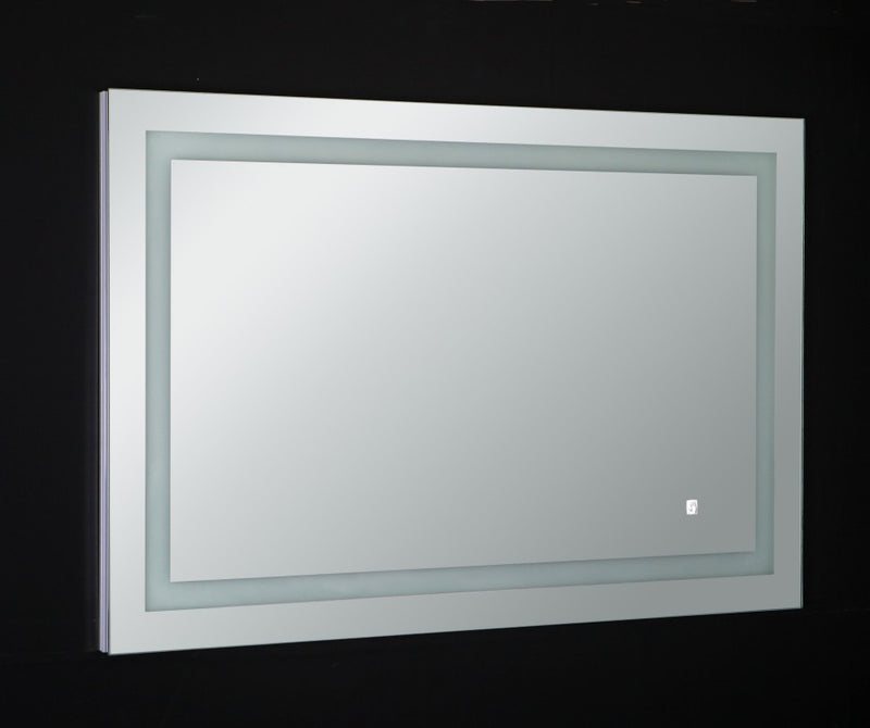 Eviva EVMR52-47X28-LED Deco Piece Wall Mounted Lighted Bathroom Vanity, Backlit LED Mirror with Frame Lights