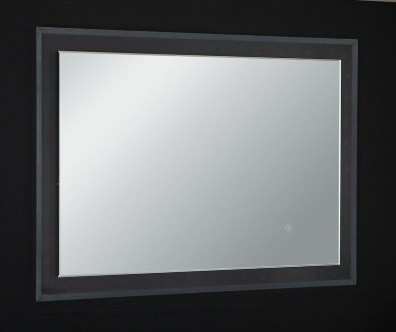 "Eviva Evolution EVMR55-24X31-LED Modern Bathroom 24"" LED Backlit Mirror with Base Lights"