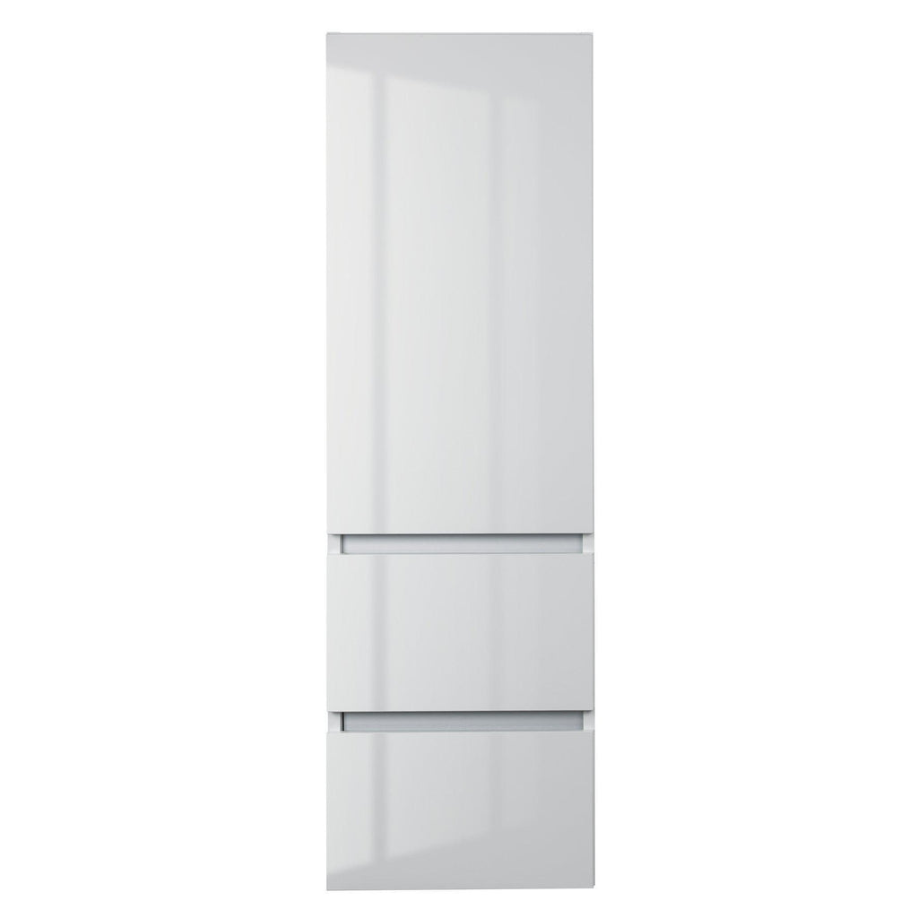 Cutler Kitchen & Bath Sangallo 15 in. Wall Hung Gloss Linen Tower-Cutler Kitchen & Bath-Blanco-themodernvanity