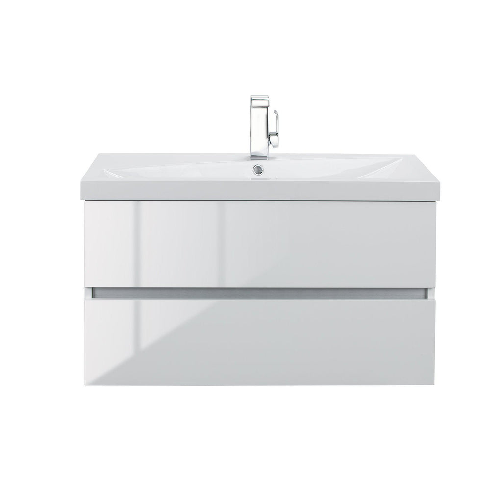 Cutler Kitchen & Bath Sangallo 36 in. Wall Hung Gloss Bathroom Vanity-Cutler Kitchen & Bath-Blanco-themodernvanity