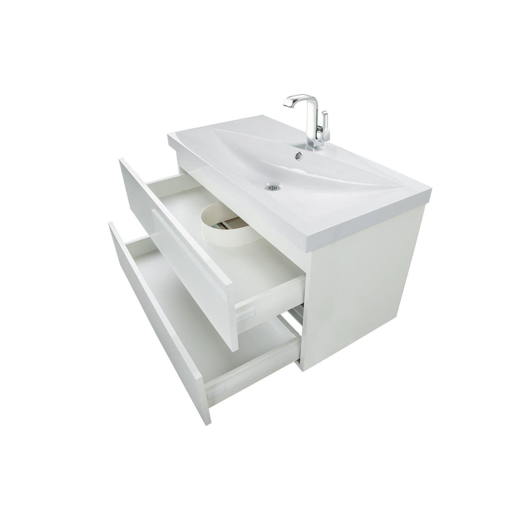 Cutler Kitchen & Bath Sangallo 36 in. Wall Hung Gloss Bathroom Vanity-Cutler Kitchen & Bath-themodernvanity