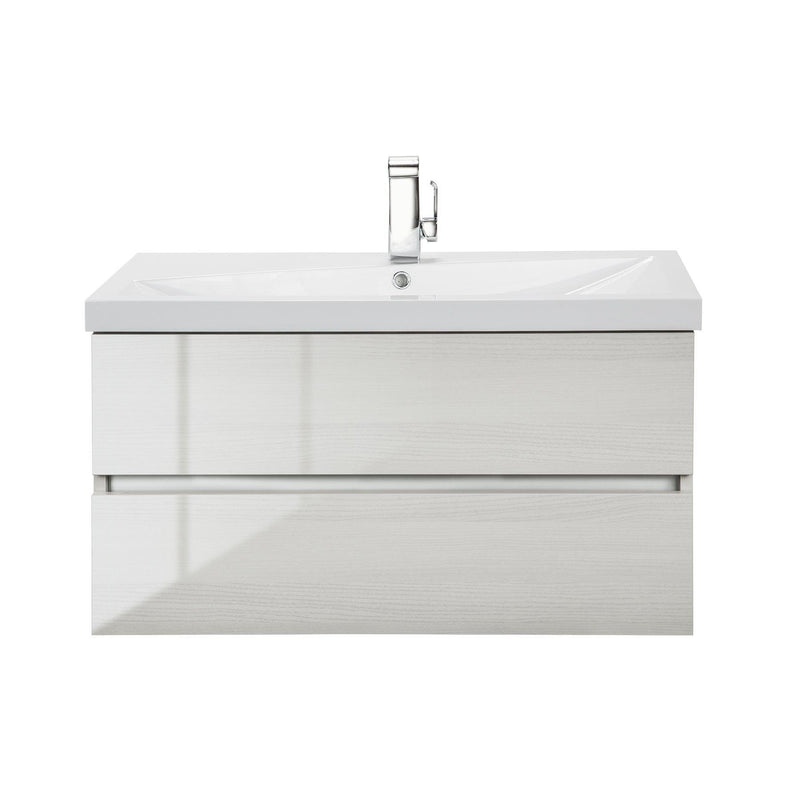 Cutler Kitchen & Bath Sangallo 36 in. Wall Hung Gloss Bathroom Vanity-Cutler Kitchen & Bath-White Birch-themodernvanity