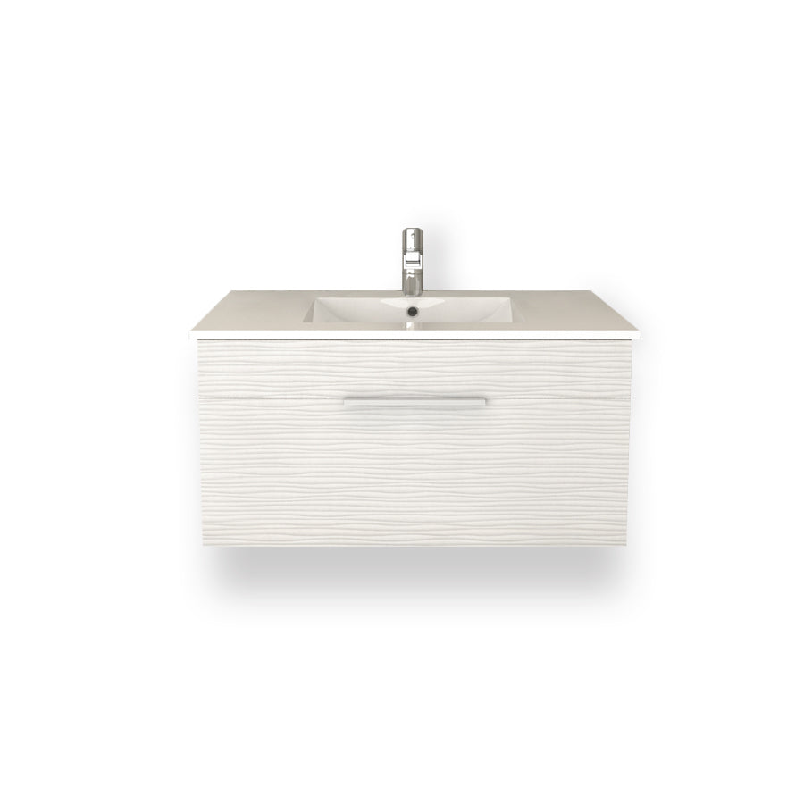 "Textures Wall Hung-36"" Single Bathroom Vanity Set-Cutler Kitchen & Bath-Contour-themodernvanity"