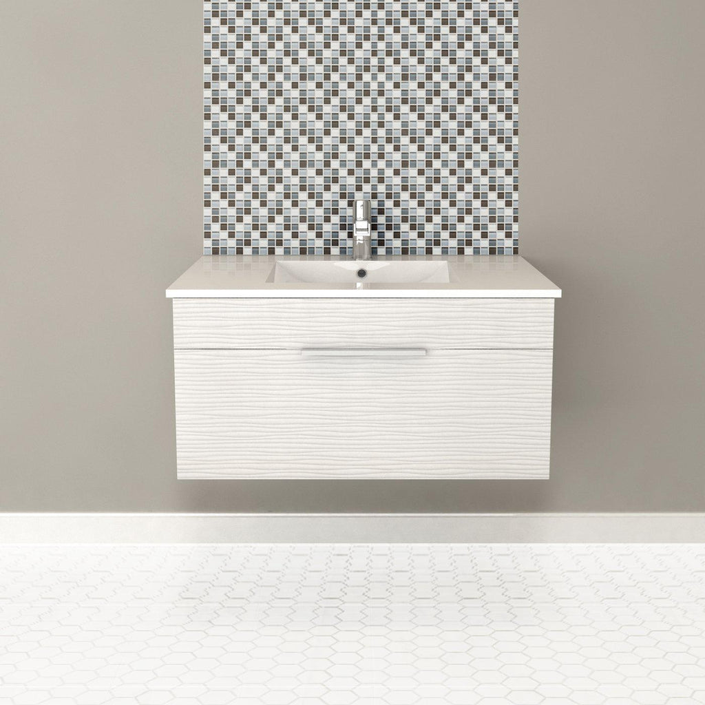 "Textures Wall Hung-36"" Single Bathroom Vanity Set-Cutler Kitchen & Bath-themodernvanity"