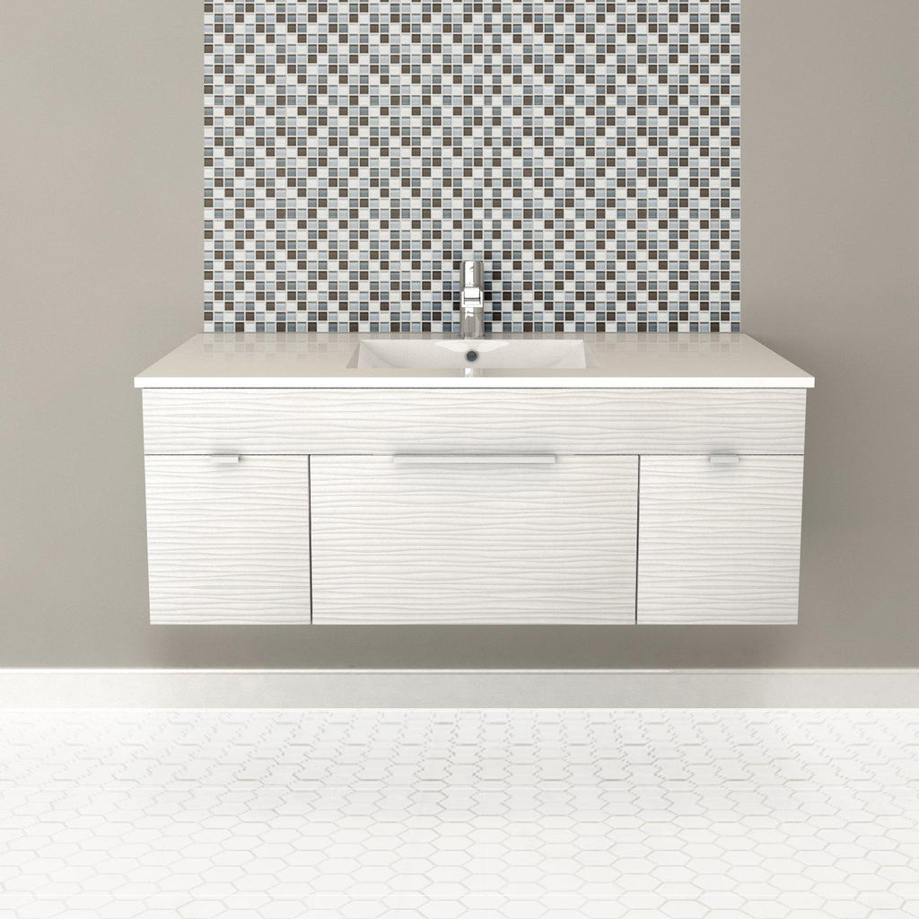 "Textures Wall Hung-48"" Single Bathroom Vanity Set-Cutler Kitchen & Bath-Contour-themodernvanity"
