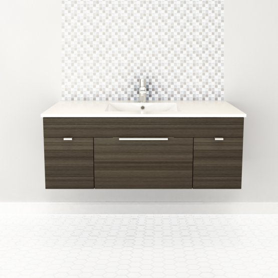 "Textures Wall Hung-48"" Single Bathroom Vanity Set-Cutler Kitchen & Bath-Spring Blossom-themodernvanity"