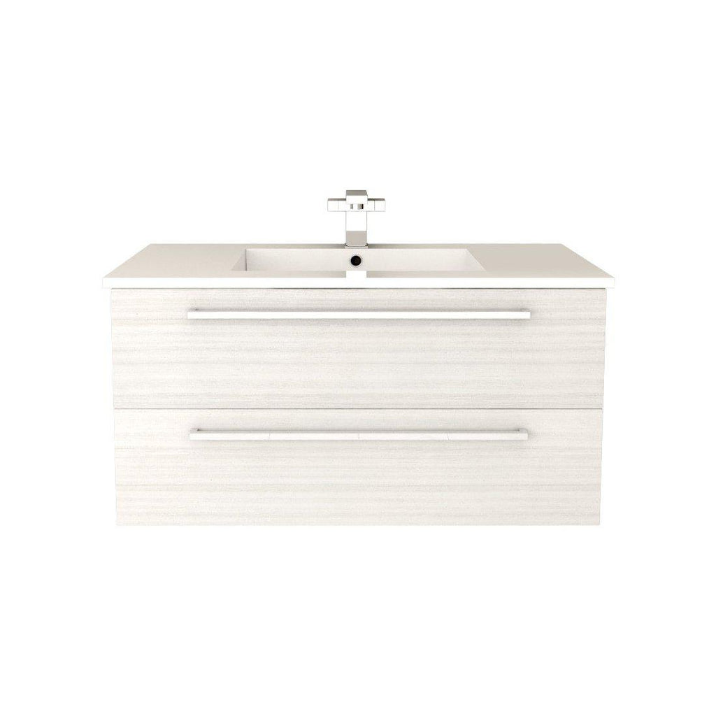 "Silhouette Wall Hung-36"" Single Bathroom Vanity Set-Cutler Kitchen & Bath-White Chocolate-themodernvanity"