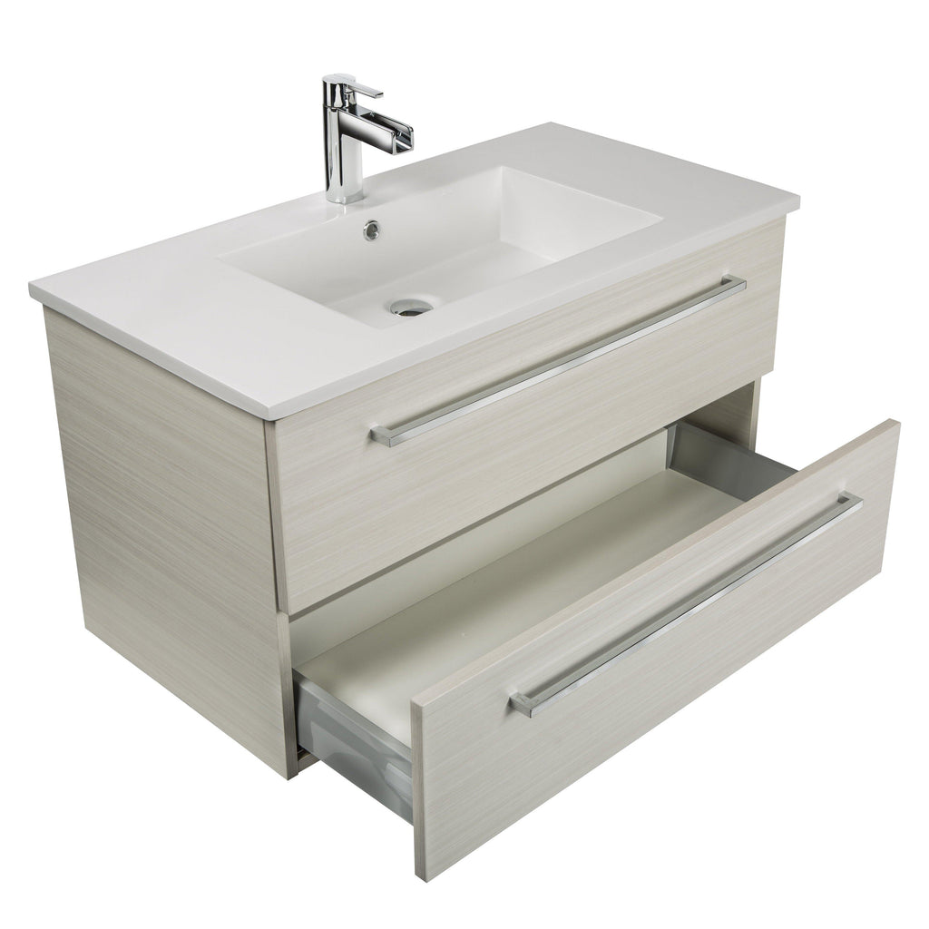 "Silhouette Wall Hung-36"" Single Bathroom Vanity Set-Cutler Kitchen & Bath-themodernvanity"