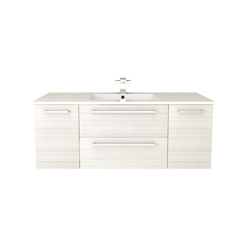 "Silhouette Wall Hung-48"" Single Bathroom Vanity Set-Cutler Kitchen & Bath-White Chocolate-themodernvanity"