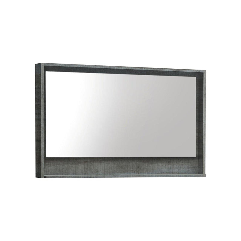 "Bosco 48"" Framed Mirror With Shelf- Ocean Gray Finish"