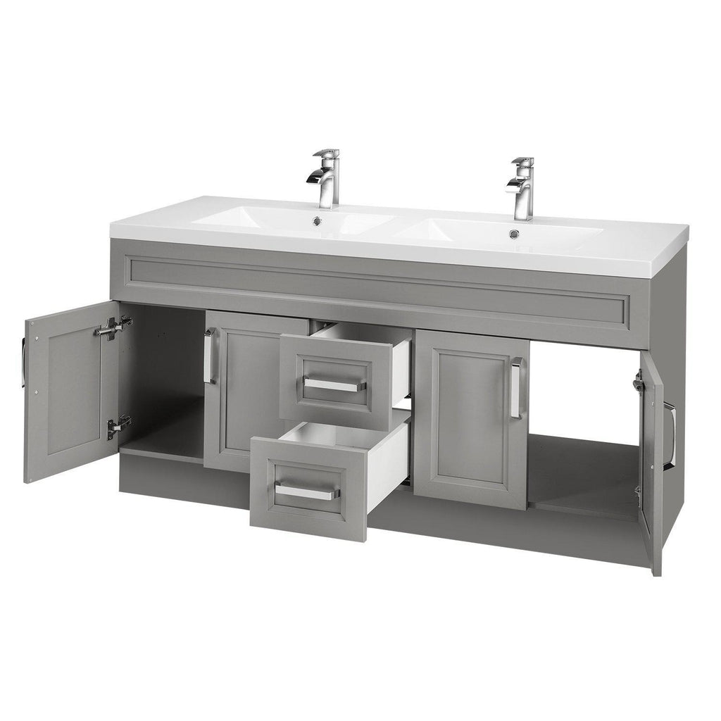Cutler Kitchen & Bath Urban 60 in. Double Bathroom Vanity-Cutler Kitchen & Bath-themodernvanity