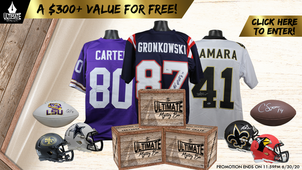 Win a sports memorabilia ultimate loot crate