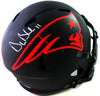 Drew Bledsoe New England Patriots Signed New England Patriots Full-sized Eclipse Speed Helmet (BAS COA)