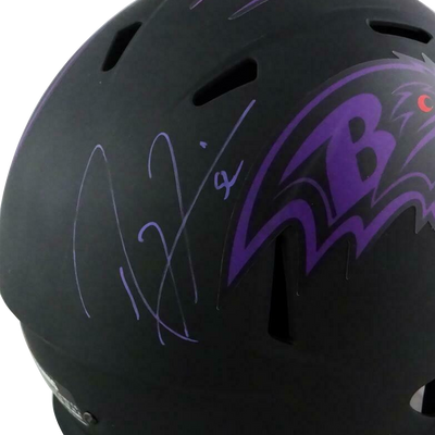 Ray Lewis Baltimore Ravens Signed F/S Eclipse Speed Helmet (BAS COA)