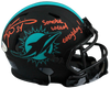 Ricky Williams Miami Dolphins Signed Dolphins Eclipse Mini Helmet with SWED (BAS COA)