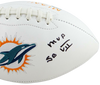 Jake Scott Miami Dolphins Signed Miami Dolphins Logo Football with MVP SB VII (JSA COA)