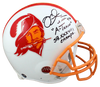 Mike Alstott Tampa Bay Buccaneers Signed TB Bucs Full-sized 76-96 TB Authentic Helmet with 2 Insc (BAS COA)