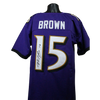 "Marquise ""Hollywood"" Brown Baltimore Ravens Custom Purple Jersey (JSA COA)"