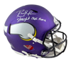 Randy Moss Minnesota Vikings Signed Vikings Full-sized Speed Authentic Helmet with Insc (BAS COA)