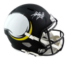 Adrian Peterson Minnesota Vikings Signed Vikings Full-sized AMP Speed Helmet (BAS COA)