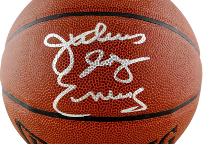 Julius Erving Philadelphia 76ers Signed NBA Spalding Basketball (JSA COA)