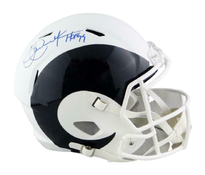 Eric Dickerson Los Angeles Rams Signed LA Rams Full-sized AMP Speed Helmet with HOF BAS COA (St. Louis)