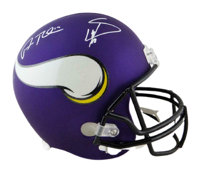 Stefon Diggs & Adam Thielen Minnesota Vikings Signed Vikings Full-sized Helmet (JSA COA)