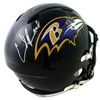 Ed Reed Baltimore Ravens Signed F/S Speed Helmet (BAS COA)