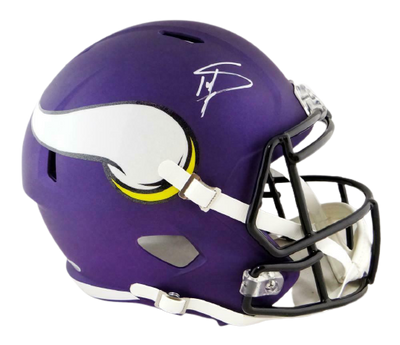 Stefon Diggs Minnesota Vikings Signed Minnesota Vikings Full-sized Speed Helmet (BAS COA)