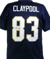 Chase Claypool Pittsburgh Steelers Signed Navy Blue College Style Jersey (BAS COA)