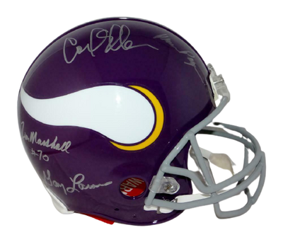 Purple People Eaters Minnesota Vikings Signed Minnesota Vikings Full-sized ProLine Helmet (JSA COA)