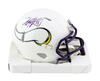 Adrian Peterson Minnesota Vikings Signed Vikings Flat White Mini Helmet (BAS COA)