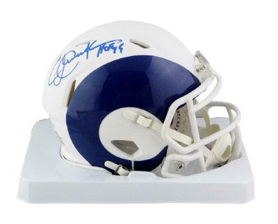 Eric Dickerson Los Angeles Rams Signed LA Rams AMP Mini Helmet with HOF BAS COA (St. Louis)