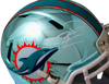 Tua Tagovailoa Miami Dolphins Signed Miami Dolphins Chrome Speed Mini Helmet (FAN COA)