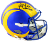 Marshall Faulk Los Angeles Rams Signed LA Rams Full-sized 2020 Speed Helmet with HOF BAS COA (St. Louis)