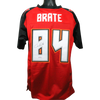 Cameron Brate Tampa Bay Buccaneers Red Custom Jersery (PSA COA)