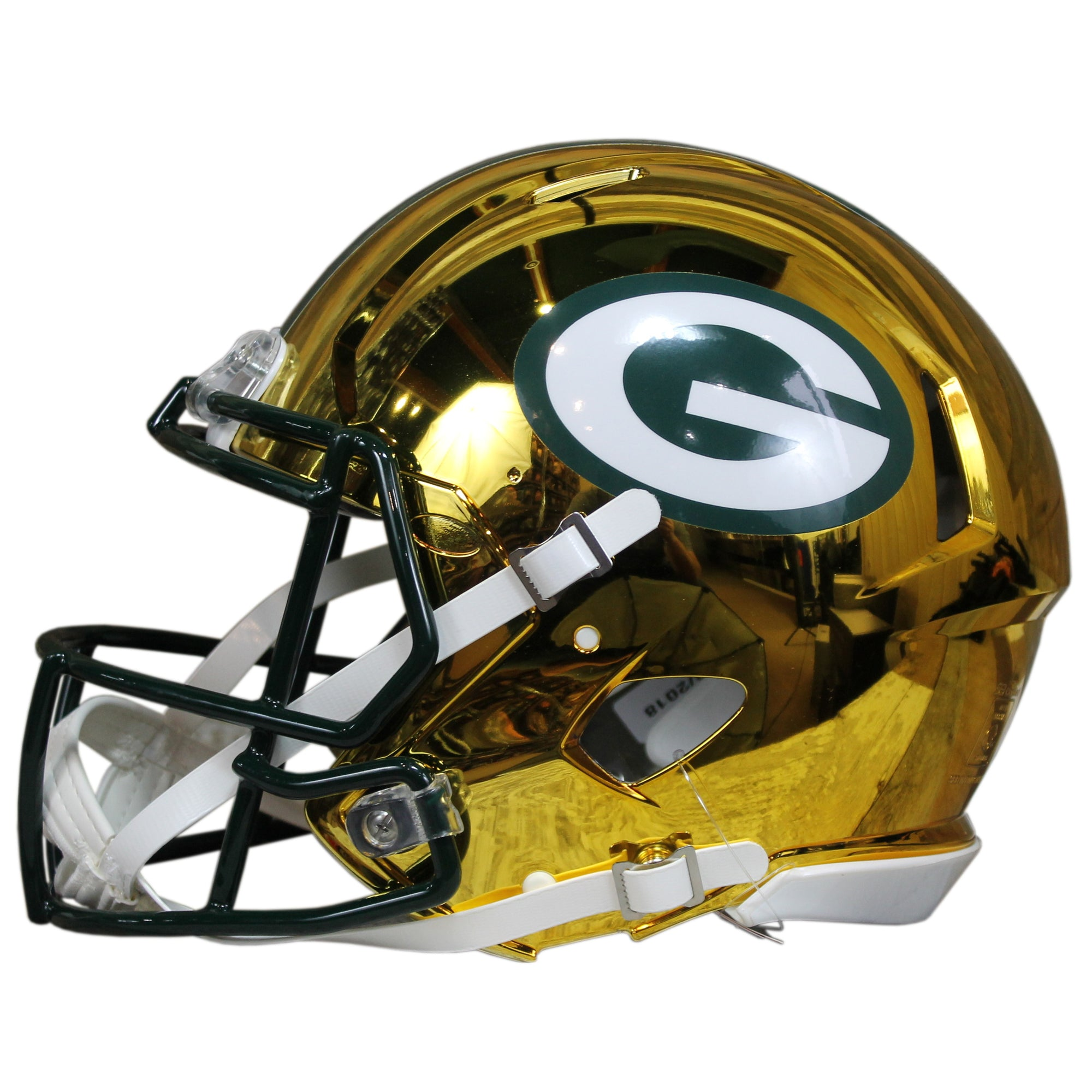 873bcbe3e Aaron Rodgers Autographed Green Bay Packers Yellow Chrome Riddell Speed  ProLine Full Size Helmet w