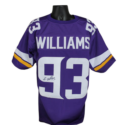 Kevin Williams Autographed Minnesota Vikings Purple Custom Jersey w/ JSA COA