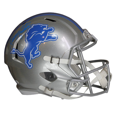 Kenny Golladay Autographed Detroit Lions Silver Riddell Speed Replica Full Size Helmet w/ JSA COA