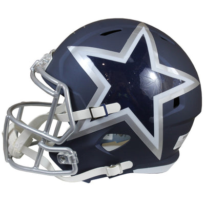 Emmitt Smith Dallas Cowboys Signed AMP Speed Replica Helmet (BAS COA)