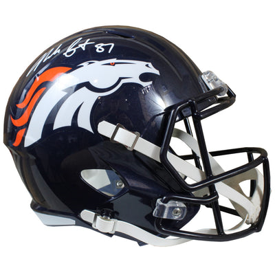 Noah Fant Denver Broncos Signed Speed Replica Helmet (JSA COA)