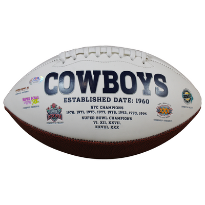 Gerrald McCoy Dallas Cowboys Signed White Panel Football (PSA/DNA COA)