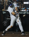 Mike Piazza New York Mets Signed 16x20 Swinging Through Photo (PSA COA)