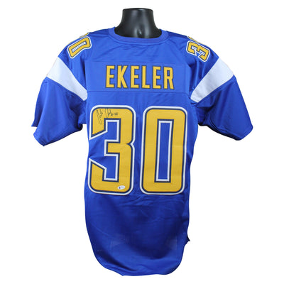 Austin Ekeler Autographed Los Angeles Chargers Color Rush Custom Jersey w/ Beckett COA