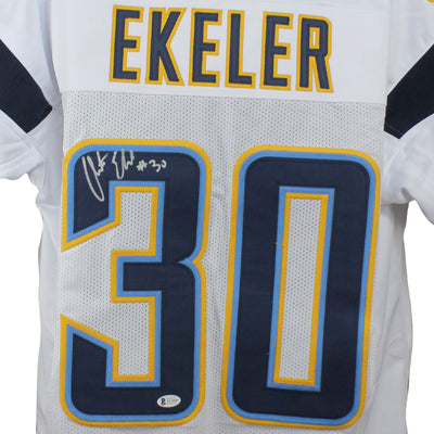 Austin Ekeler Autographed Los Angeles Chargers White Custom Jersey w/ Beckett COA