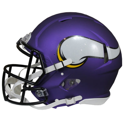 Cris Carter Autographed Minnesota Vikings Purple Riddell Speed ProLine Full Size Helmet w/ Beckett COA