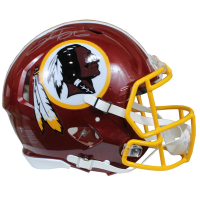 Clinton Portis Autographed Washington Redskins Red Riddell Speed ProLine Full Size Helmet w/ Schwartz COA