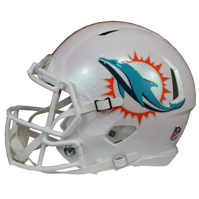 Ricky Williams Autographed Miami Dolphins White Riddell Speed ProLine Full Size Helmet w/ Inscription JSA COA